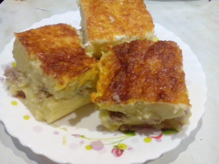 Рецепт из запеканки из картофеля с фаршем в духовке пошагово