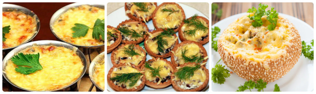 закуски жульен с курицей и грибами: вариант горячей закуски.
