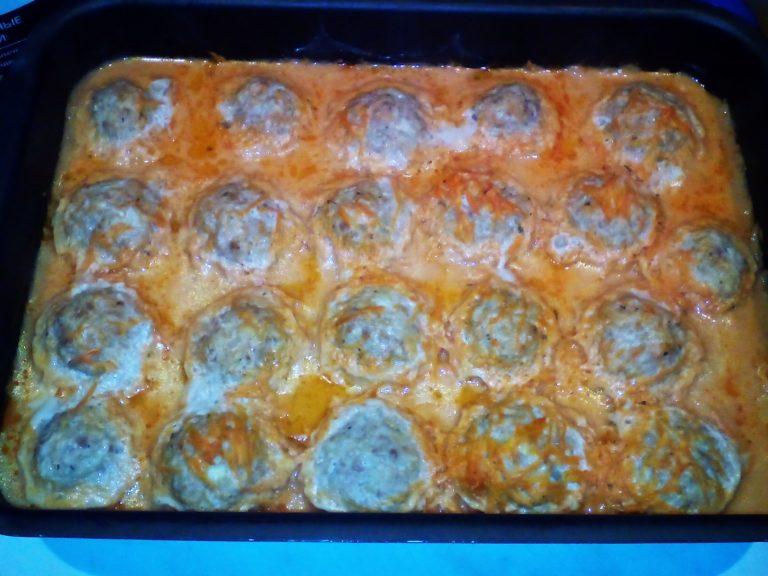 Тефтели рецепт с фото пошагово в духовке запеченные соусом
