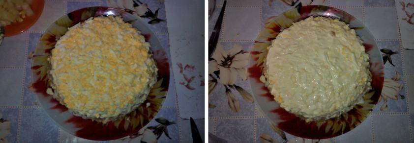 Салат с курицей ананасом и сыром рецепт с фото пошагово