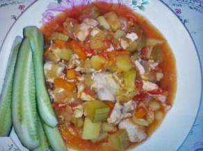 рагу из овощей с курицей в мультиварке