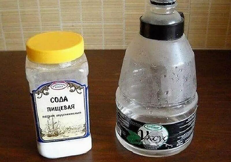 помыть банки с содой и уксусом