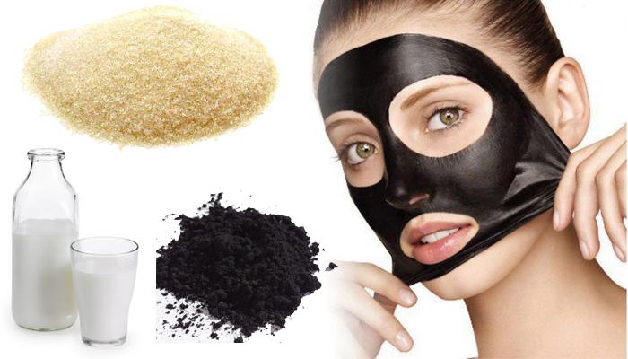 маска от черных точек из желатина и угля