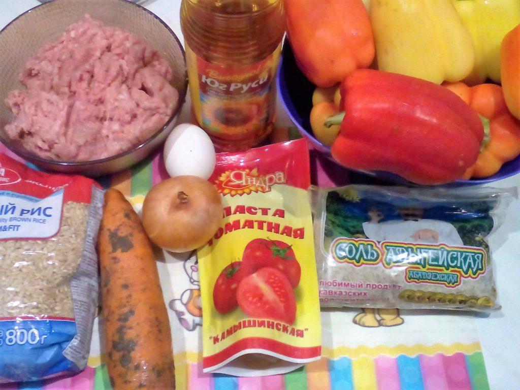 фаршированные перцы с фаршем и рисом рецепт
