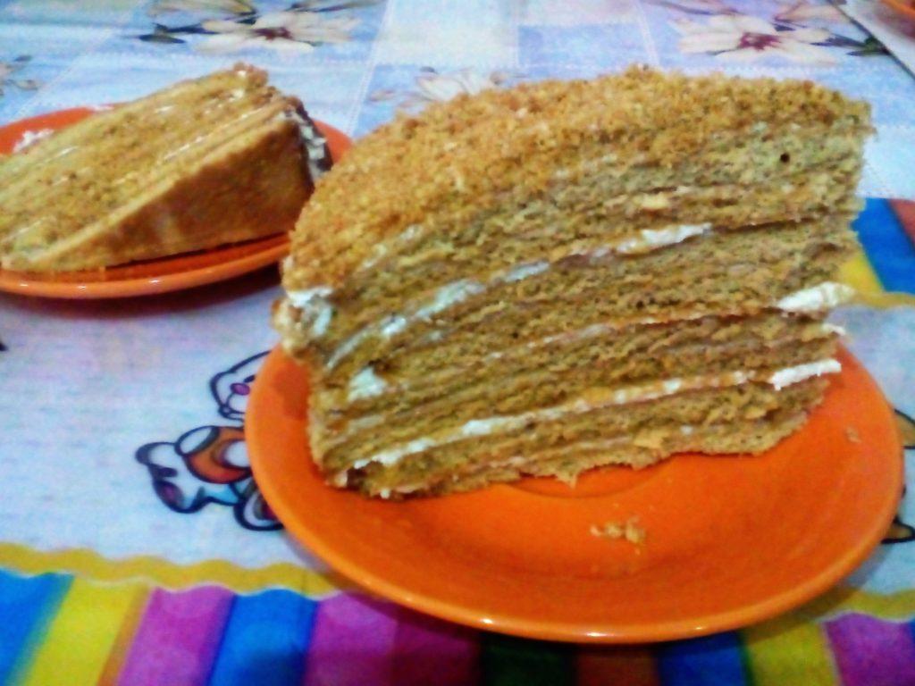 торт медовик классический рецепт с фото пошагово