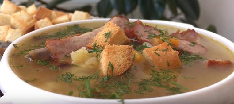 гороховый суп с копченностями