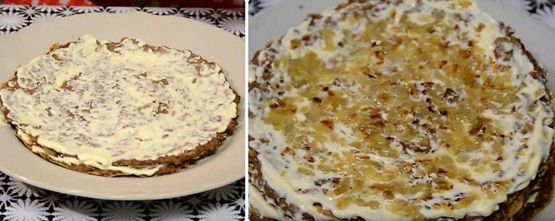 печеночный торт рецепт с фото пошагово