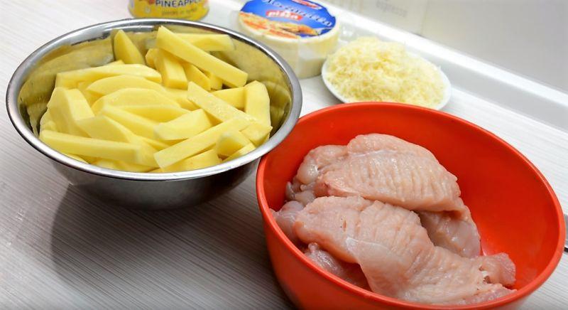 мясо по-французски c картошкой в духовке