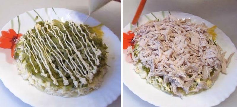 Салат с копченой грудкой и сыром - пошаговый рецепт с фото на Повар.ру