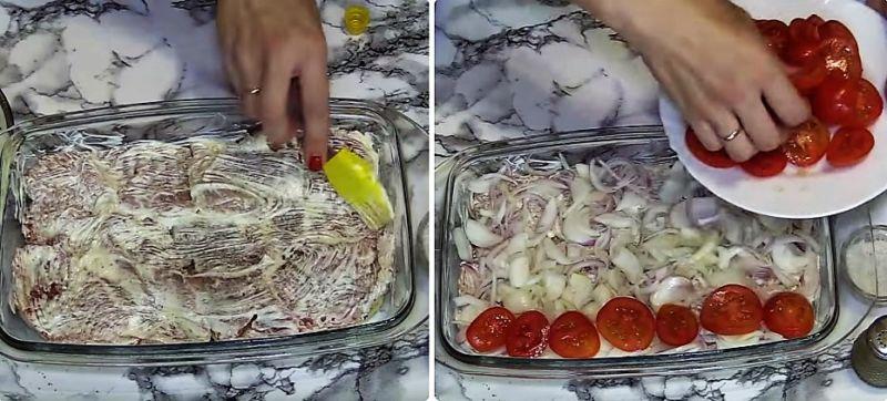 мясо по-французски с картошкой в духовке рецепт с фото