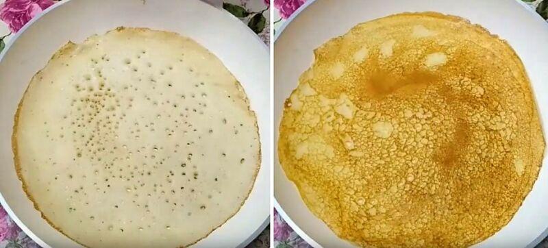 блины на кефире рецепт тонкие с дырочками