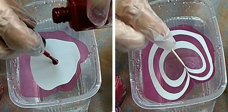 как покрасить яйца лаком