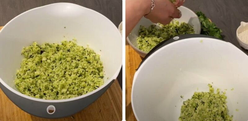 кабачковые оладьи в духовке