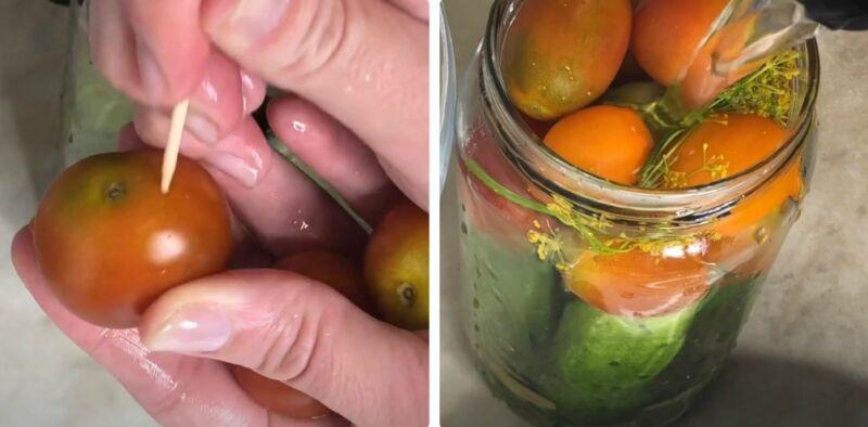 ассорти огурцы и помидоры на зиму