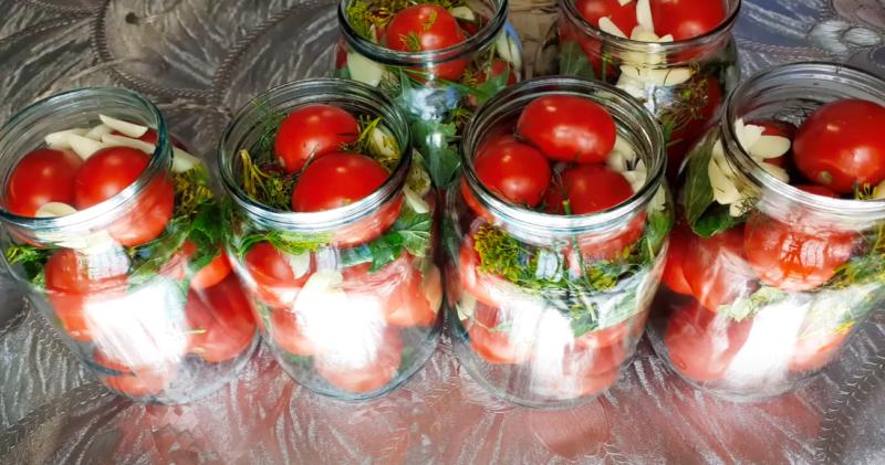 помидоры в собственном соку на зиму