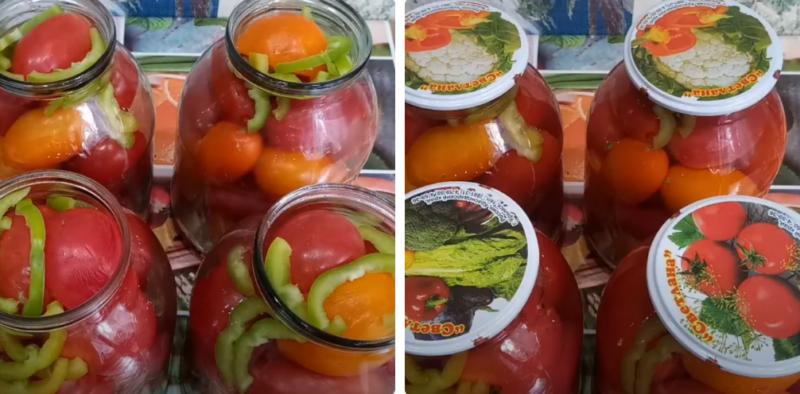 помидоры на зиму с лимонной кислотой