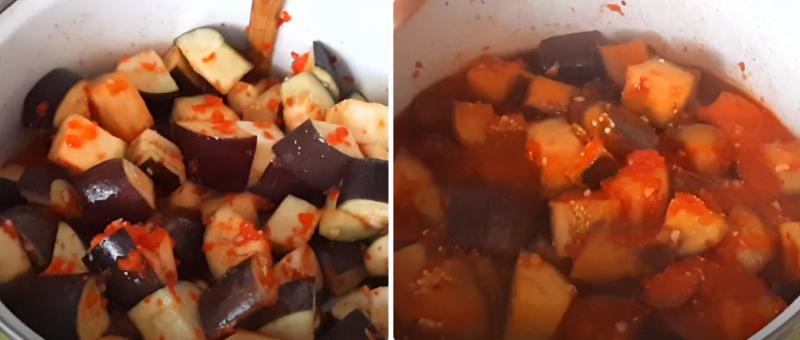 баклажаны с перцем и чесноком на зиму
